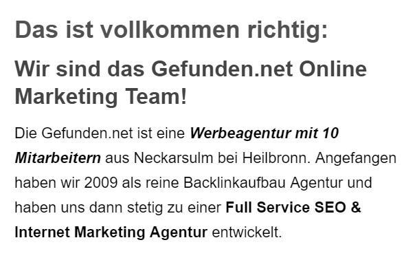 Full Service Internet Marketing Agentur in  Flein