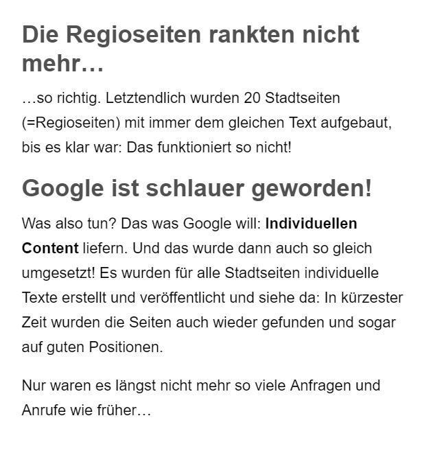 Google lokale Seiten Erstellung aus Hofstetten