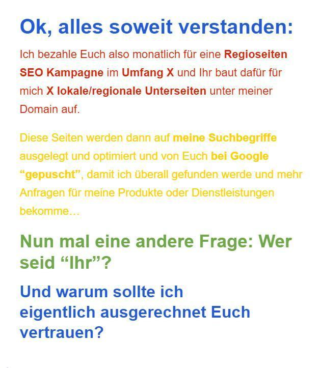 Google my Business aus  Berg