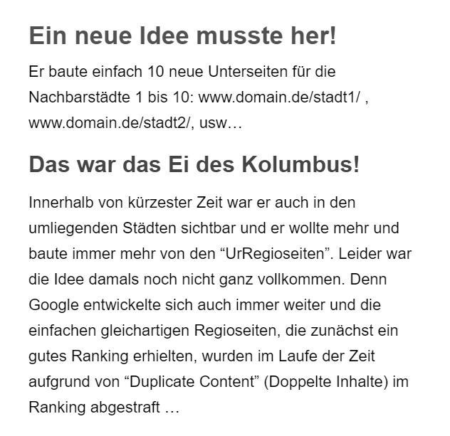 Googleoptimierung in Sontheim