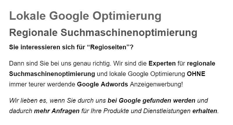 ⭐ Lokale Googleoptimierung, Google Places Optimierung in  Tangstedt, Ammersbek, Jersbek, Nienwohld, Kayhude, Wakendorf (II), Norderstedt und Bargfeld-Stegen, Nahe, Henstedt-Ulzburg