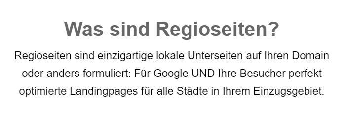 Regioseiten: SEO mit lokalen Landingpages für  Berne