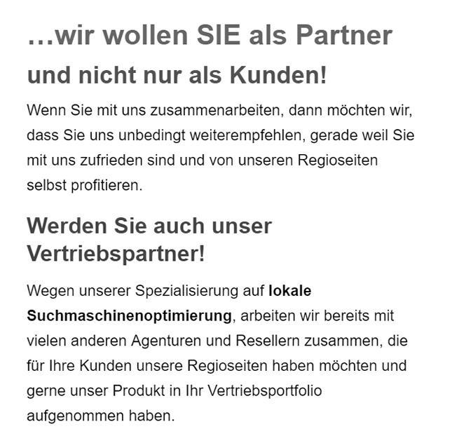 SEO Vertriebspartner in  Oerlinghausen