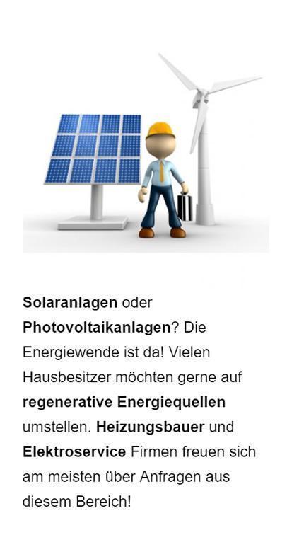 Solaranlagen Anbieter Werbung für Hofstetten