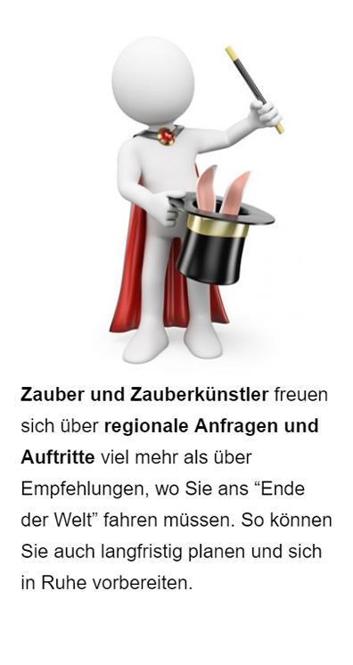 Zauberer Werbung für  Oberhausen