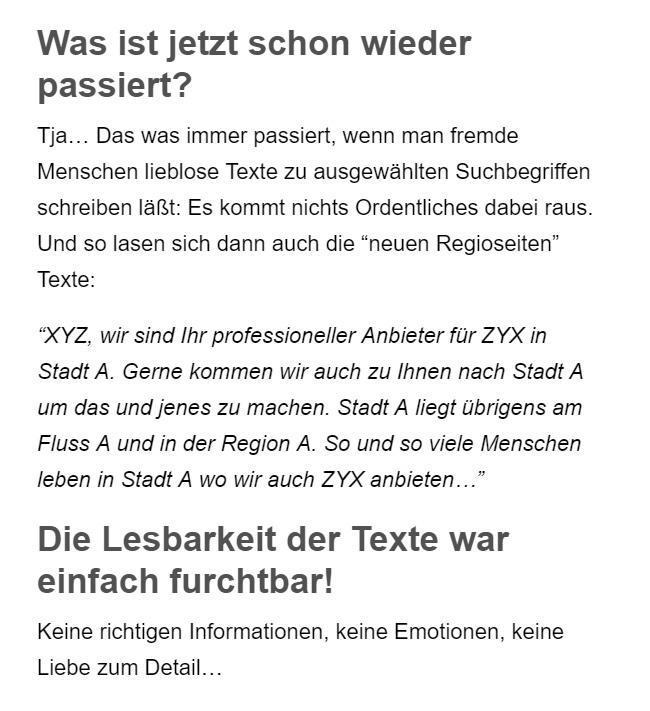 Googlefreundliche SEO Texte aus 96146 Altendorf